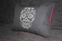 Mexican Day of the Dead - machine embroidery and beadwork