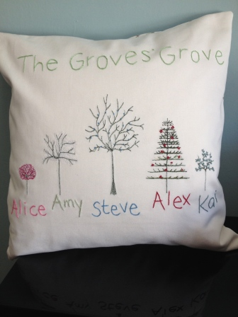 the Groves' Grove - hand and machine embroidery